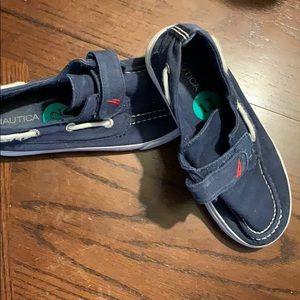 "Kids Nautical ""boat shoe"" slip on sneakers"